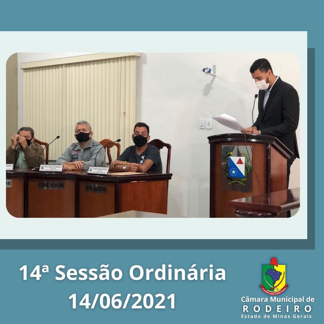 Reprise da 14º Sessão Ordinária
