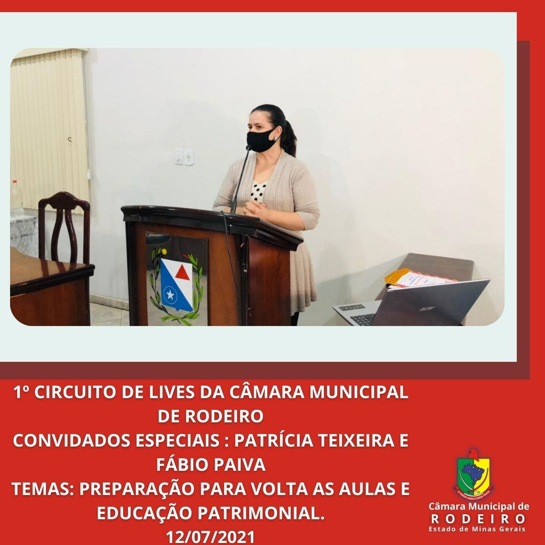 2ª Live com as participações da Secretária Patrícia Teixeira e o Coordenador Fábio Paiv