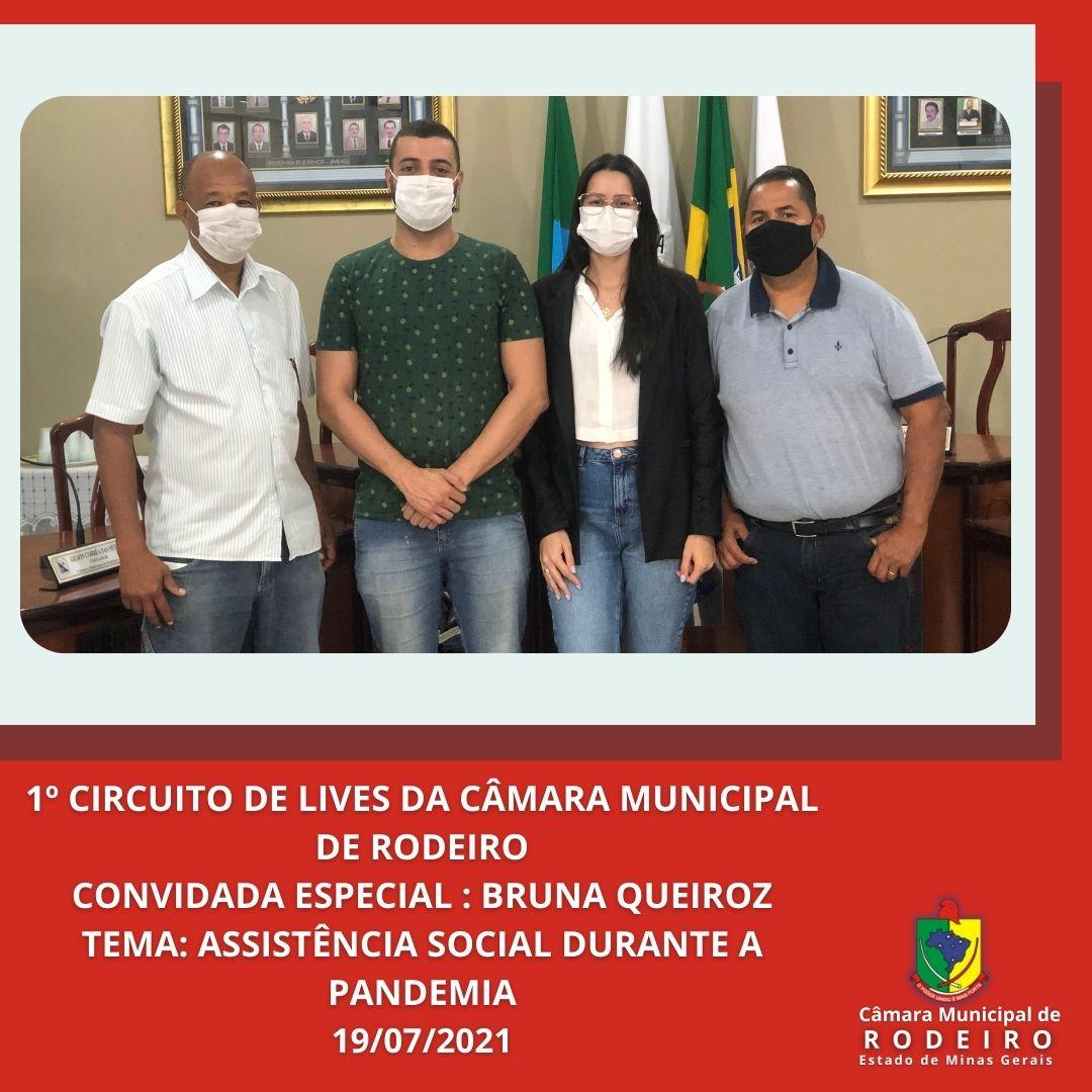 3ª Live com a Participação da Secretária de Assistência Social Bruna Queiroz