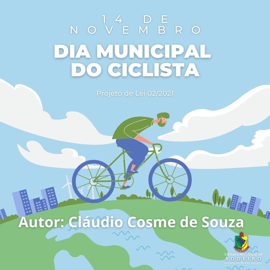 DIA MUNICIPAL DO CICLISTA 14 DE NOVEMBRO